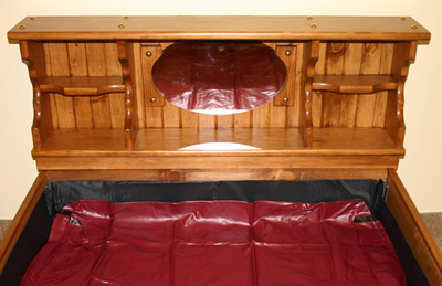The Bookshelf With Mirror Waterbed Waterbeds Canada